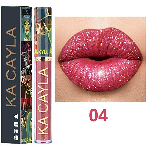 Quaan Sexy 8 Farben Lippenstift, Nackt Metallisch Matt Samt Glänzend Lipgloss dauerhaft solide...