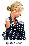BebeChic copertura 100% cotone per allattamento al seno,con sacchetto contenitore grigio a rose