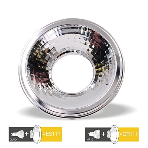 Mr16-reflektor (ES111 GU10 - LED Reduktion Reflektor Adapter MR16/GU10)