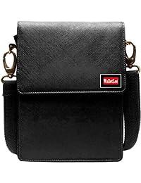 WalletLee Black Unisex Genuine Leather Sling Bag