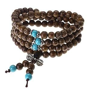 jovivi 6mm 108 perles perles bois naturels caf collier cha ne bracelet tib tain bouddhiste. Black Bedroom Furniture Sets. Home Design Ideas