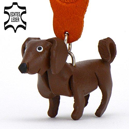 Freund Tasche (Labrador Retriever Lucky - Hunde Schlüsselanhänger Figur aus Leder in der Kategorie Kuscheltier / Stofftier / Plüschtier von Monkimau in braun - Dein bester Freund. Immer dabei! - ca. 5cm klein)