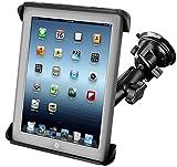 RAM-B-166-TAB3U: RAM Suction Cup Twist Lock Mount with Tab-Tite Cradle for the Apple iPad iPad 2 HP TouchPad