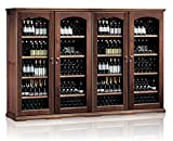 Ip Industrie - Mobile cantina refrigerata legno massello 4 porte in vetro 4 celle indipendenti capienza 552 bottiglie