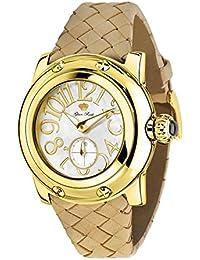 Glam Rock summerTime Damen-Armbanduhr 40mm Armband Leder Braun Schweizer Quarz Analog GR40037