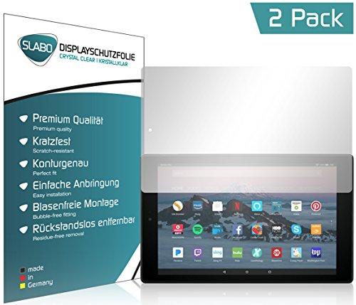 Slabo 2 x Bildschirmschutzfolie für Amazon Fire HD 10-Tablet mit Alexa (25,65 cm 10,1