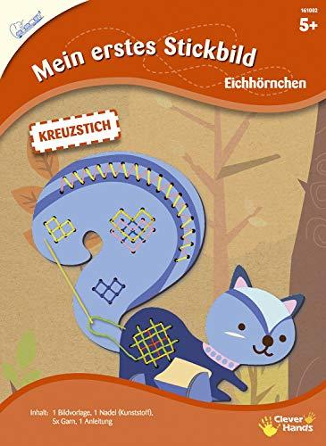 Mammut 161002 - Kit Completo de Costura para niños a Partir de 5 años, diseño de Ardilla, Incluye Instrucciones (Pueden no Estar en español)