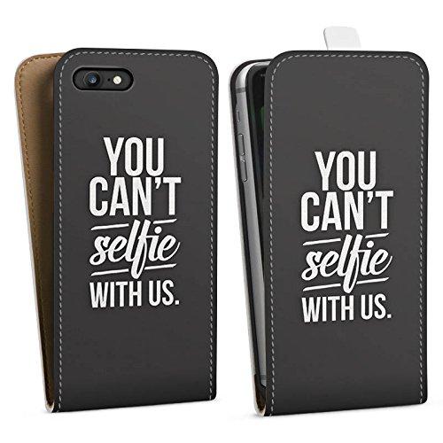 Apple iPhone X Silikon Hülle Case Schutzhülle Sprüche Selfie Schwarz Downflip Tasche weiß