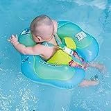 Pueri aufblasbare Baby-Schwimmhilfe, Schwimmring, Taillenring, für Kinder, Schwimmbad-Zubehör, mit Rückenlehne und Gurt für Kinder/Kleinkinder, S