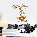 Adesivo da parete in vinile per caffè Decalcomanie per caffè buono Amici Citazione Tazza da tè Cucina Parola murale Design camera da letto Decorazione Camera da letto B 42 * 42 cm