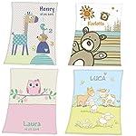 Wolimbo DUO SUPERFLAUSCH Lammfell Optik Kinderdecke mit Ihrem Wunsch-Namen - personalisierte / individuelle Geschenke für Kinder zur Geburt, Geburstag, Taufe Mädchen und Jungen 6