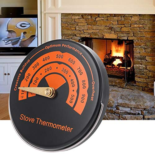 NysunshineAlloy Magnetic Stove Flue Pipe Thermometer-Temperaturmessung für Holzbrenner -