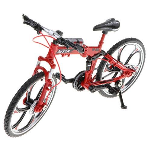 Non brand Sharplace Giocattolo della Bicicletta Dell'artigianato della Bici Diecast in Lega della Scala 1:10 - Pieghevole Rosso