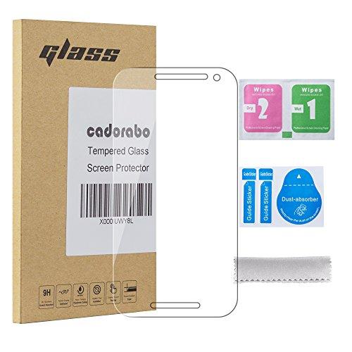 Cadorabo Panzer Folie für Motorola Moto G3 - Schutzfolie in KRISTALL KLAR - Gehärtetes (Tempered) Bildschirm-Schutzglas in 9H Härte mit 3D Touch Glas Kompatibilität