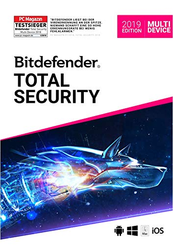 BitDefender Total Security Multi-Device 2019 | 5 Geräte | 1 Jahr | DVD
