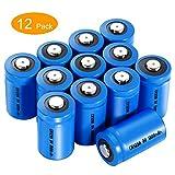 CR123A 3v Lithium Batterie, LYPULIGHT 1300mAh Jeweils12 Stücke Hohe Kapazität Batterie CR123 (CR17345,6205) für Taschenlampe, Kamera, Camcorder, Spielzeug,Nicht für Arlo Camera