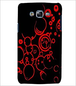 PrintDhaba RED CIRCLE PATTERN D-6832 Back Case Cover for SAMSUNG GALAXY J7 (Multi-Coloured)