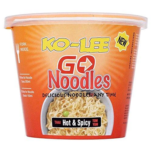 Ko-Lee Go Noodles Thai Hot & Spicy Flavour (65 g) - Packung mit 6