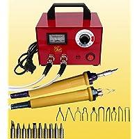 Kit de leña para quemar pluma de 100 W de pirografía, con temperatura ajustable de 200~450 ℃, 2 tomas de 2 bolígrafos, 20 unidades