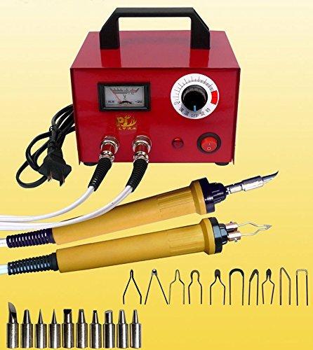 Pyrographie Maschine 100W 220V Brandmal-Kolben Set mit 20Pcs Brennspitzen für Handwerk Holz Brennen Schnitzerei Dual Pen Pyrographie Werkzeug Professionelle Holz Brennen Kit