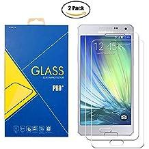 [2 Pack] Protector Cristal Vidrio Templado Samsung Galaxy A5 2015 ( SM-A500 / A500F / A500FU / A5 LTE ) – Pantalla Antigolpes y Resistente al Rayado
