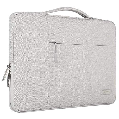 MOSISO Housse Compatible avec 2019 2018 MacBook Air 13 Retina Display A1932, MacBook Pro 13 A2159 A1989 A1706 A1708, Laptop Sleeve Multifonctionnel Sac Main Polyester, Gris