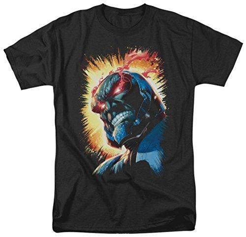 Darkseid Fiery ojos negro camiseta, Negro