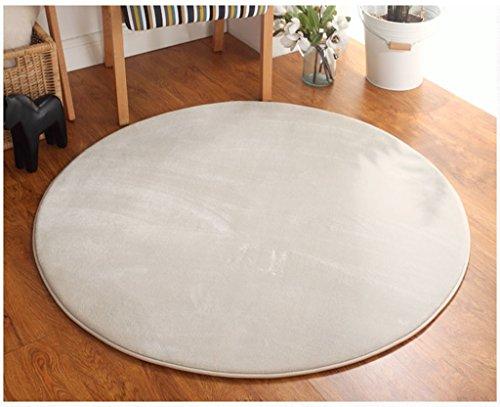 SESO UK Alfombra de color sólido moderna nórdica, alfombra redonda antideslizante...