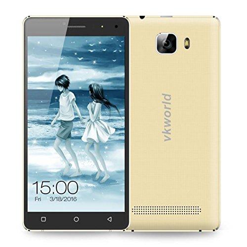 Preisvergleich Produktbild Omiky® Mode 2017 VKworld T3 RAM 2GB + ROM 16GB 4G FDD-LTE 5.0 Zoll Android 5.1 MTK6735 Quad Core 1.0GHZ Smart Phone (Gold)