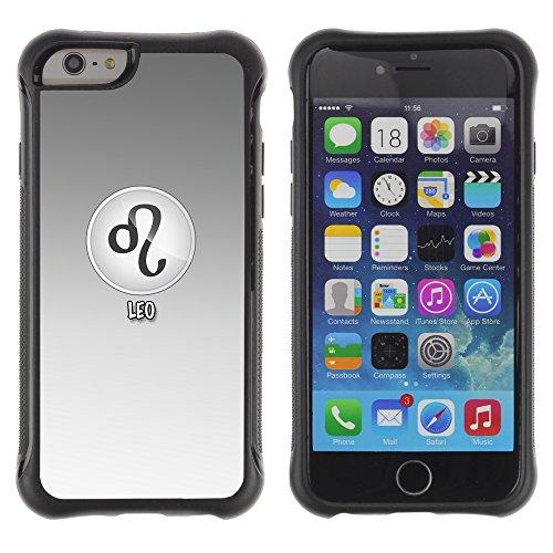 Graphic4You Aries Widder Horoskop Tierkreis Zeichen Design Shockproof Anti-Rutsch Weichen Hülle Case Tasche Schutzhülle für Apple iPhone 6 Plus / 6S Plus Leo