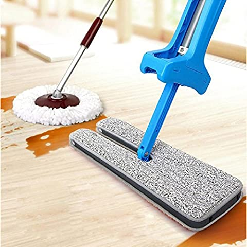 HKFV Unique Amazing Creative Design Useful Double-Side Flat Mop Hands-Free Washable Mop Home Cleaning Tool Lazy Help Clean Help Housework