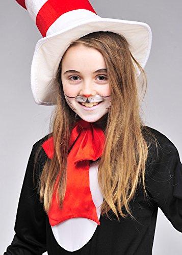 Die Katze der Kinder in der Hut-Art-riesigen Fliege