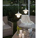 Kamaca Outdoor LED Kerzen im 3er Set batteriebetrieben inkl. Timer Kerze flackernd für Innen und Außen Bereich Outdoor (3er Set Outdoor Kerzen Weiss) - 3