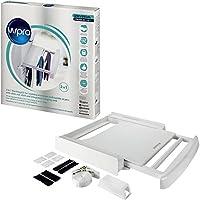 wpro SKP101 Waschmaschinenzubehör/Verbindungsrahmen mit Ablage und Wäscheleine/Waschmaschine und Trockner/Universell