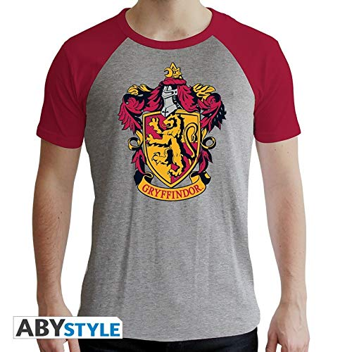ABYstyle - Harry Potter - T-Shirt - Gryffindor - Herren - Grau & Rot - Premium (L)
