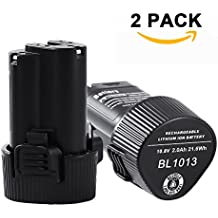 [2PCS] Boetpcr 10.8V 2.0Ah Li-ion Batería de Repuesto para Makita BL1013 BL1014 194550-6 194551-4 195332-9