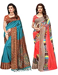 Applecreation Sarees New Collection Combo Offers For Women Art Silk & Georgette Saree For Women (SRJA008-Georgette14012...