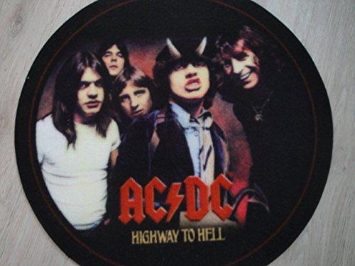 Preisvergleich Produktbild AC/DC Teppich Rund 50 cm Heavy Metall Teppich für´s Haus