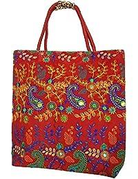 Shubhangi Women's Shoulder Bag (Jaipuri Embridered Handicraft Traditional Handbags,stylish Traditional Bag,Multi-Coloured...