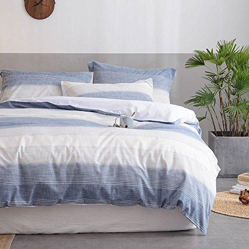 Merryfeel 100% Baumwolle Garn gefärbt Bettwäsche-Set - 135x200+80x80cm -