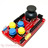 AZDelivery ⭐⭐⭐⭐⭐ PS2 Joystick Shield Game Pad Keypad V2.0 für Arduino