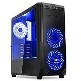 ROGUE I BLUE: BOITIER GAMING NOIR/BLEU mATX/ATX - LECTEUR DE CARTES SD/MICROSD - 7...