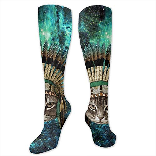 Chief Indian Native Kostüm - Gped Kniestrümpfe,Socken, Chief Cat Native American Indians Theme Socks Athletic Socks Knee High Socks For Men Women Sport Long Sock Stockings 50CM