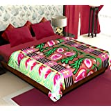 Story@Home Floral Collection Super Soft Multicolor Printed Double Bed Fleece Blanket- Set of 5