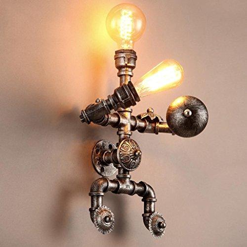 Economia creativa vento Caffè Ristorante Corridoio Ferro lampada da parete d'acqua