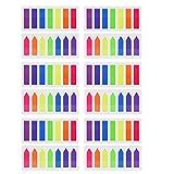Pyhot 1680pièces Index Tabs drapeaux, 12jeux Neon Marque-page signets Texte Surligneur Bandes, Sticky Notes 12x 45mm