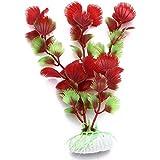 Planta Artificial Decoración Decorativo Acuarios Pecera Estanque Rojo Verde