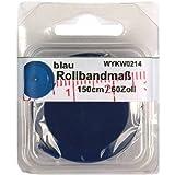 1 Rollbandmaß Schneidermaßband blau 150 cm / 60 Zoll, im SB Blister, 0214