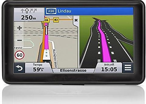 Hieha® GPS Auto Voiture écran 7 pouces Gratuits Cartographie à Vie Carte Car 8 GB