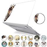 PapyHall Loves Dogs Cover in plastica rigida per MacBook Pro 13 pollici con/senza Touch Bar 2016/2017/2018 Modello di rilascio: A1706/A1708/A1989 Mouse e gatto e cane